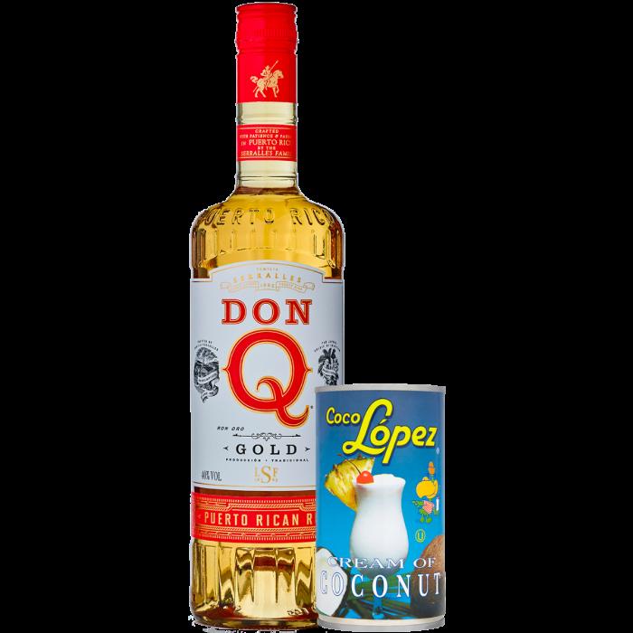 Kit Pina Colada con DonQ Gold Rum e Coco Lopez