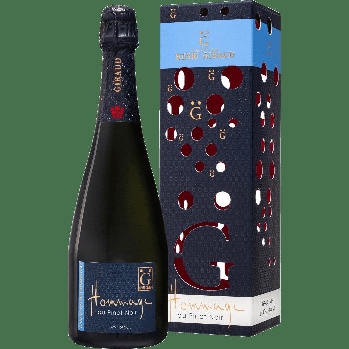 """Champagne Blanc de Noir """"Hommage au Pinot Noir"""" con Astuccio - Henri Giraud"""