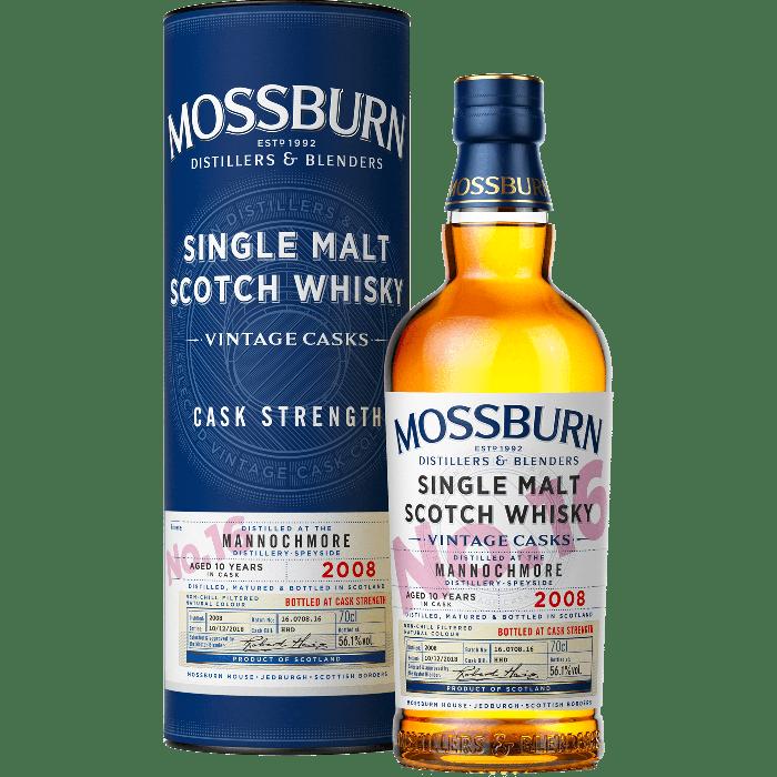 No.16 Mannochmore Speyside Single Malt 2008  Cask Strenght - Mossburn Whisky
