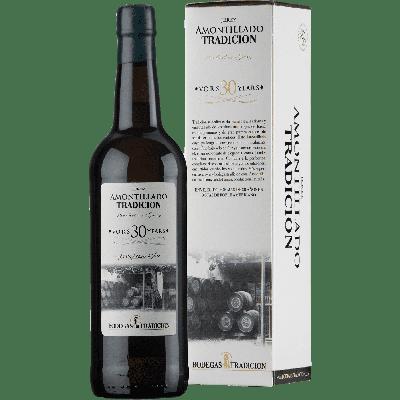 Sherry Amontillado VORS 30 anni (sherry secco) astucciato - Bodegas Tradicion