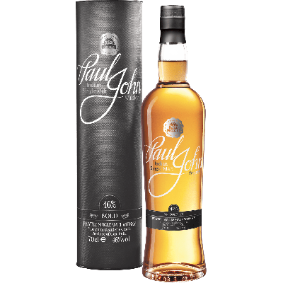 """Bold"" Single Malt Whisky indiano (molto torbato) con astuccio - Paul John Distillery"