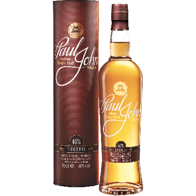 """Edited"" Single Malt Whisky Indiano (semi torbato) con astuccio - Paul John Distillery"