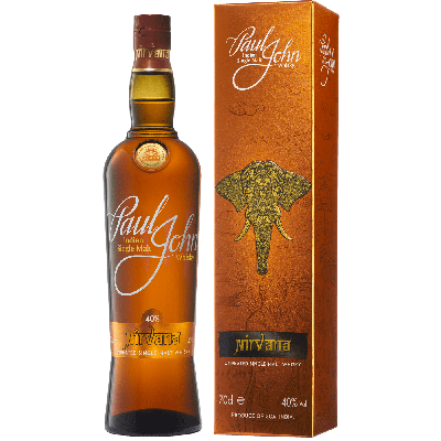 """Nirvana"" Single Malt Whisky Indiano (non torbato) con astuccio - Paul John Distillery"