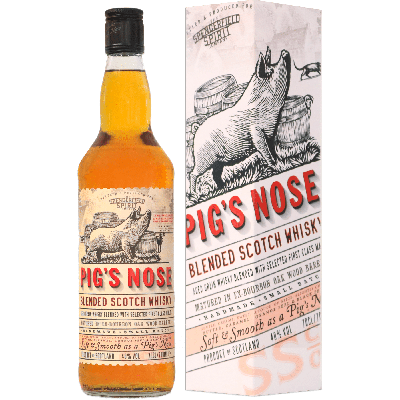 Pig's Nose Blended Scotch Whisky con astuccio - Ian Macleod