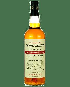 As We Get It Highland Single Malt Scotch Whisky - Ian Macleod
